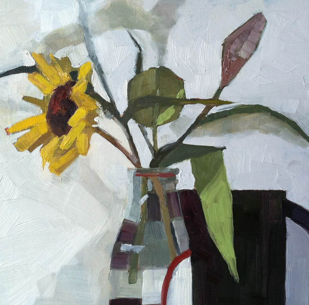 Anne Winthrop Cordin, Sunflower With Cup