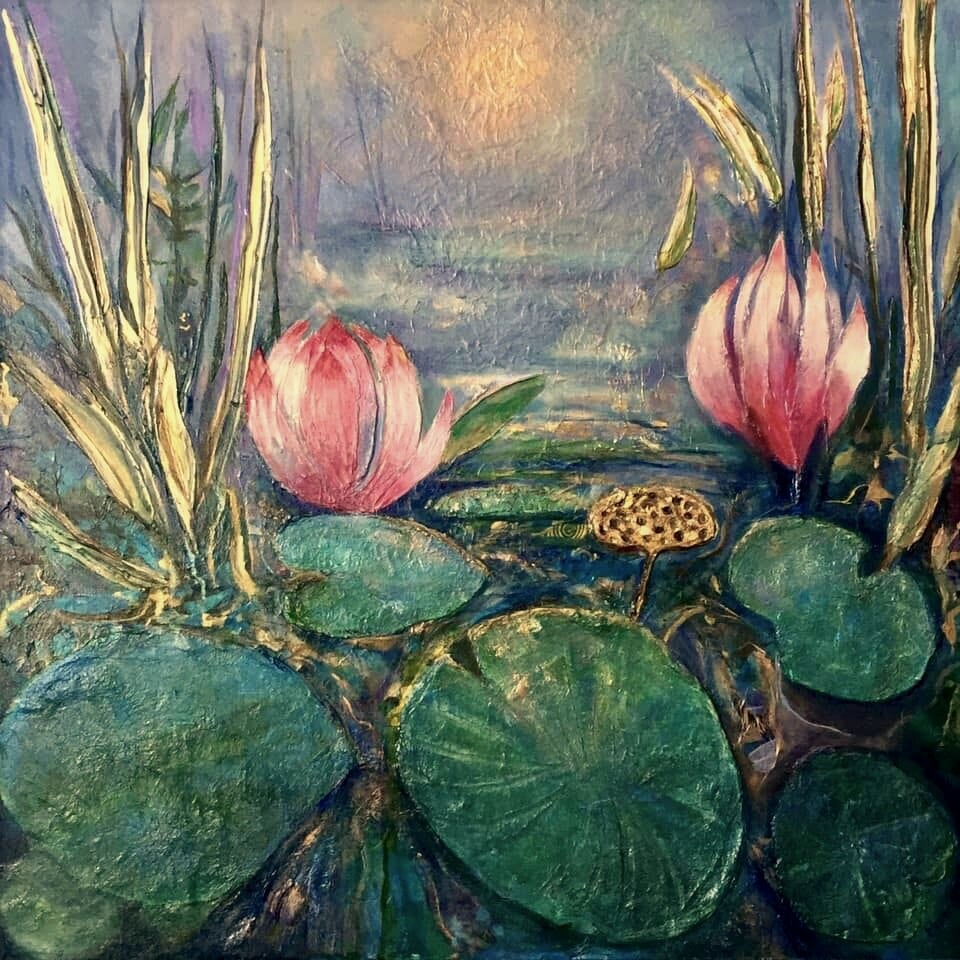 Elaine Porter,  Twilight At The Lotus Pond