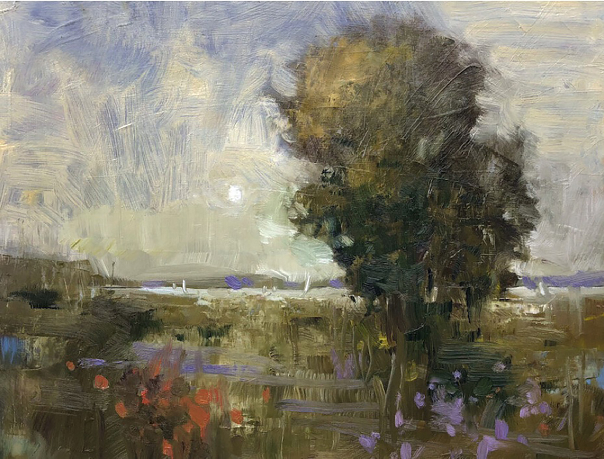 Linda King Davey, Salt Marsh Moonrise
