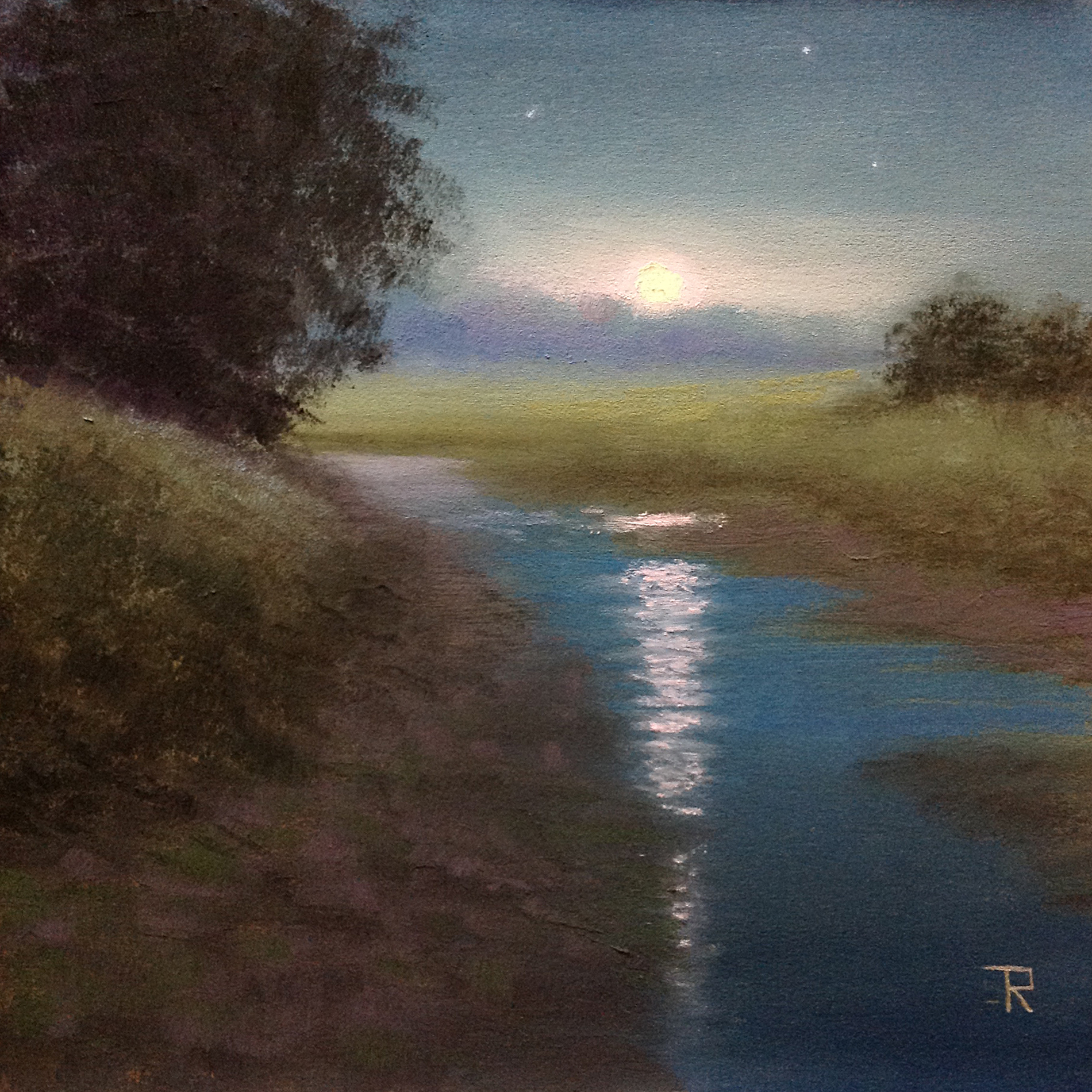 Tatiana Roulin, Tranquil Moon, SOLD