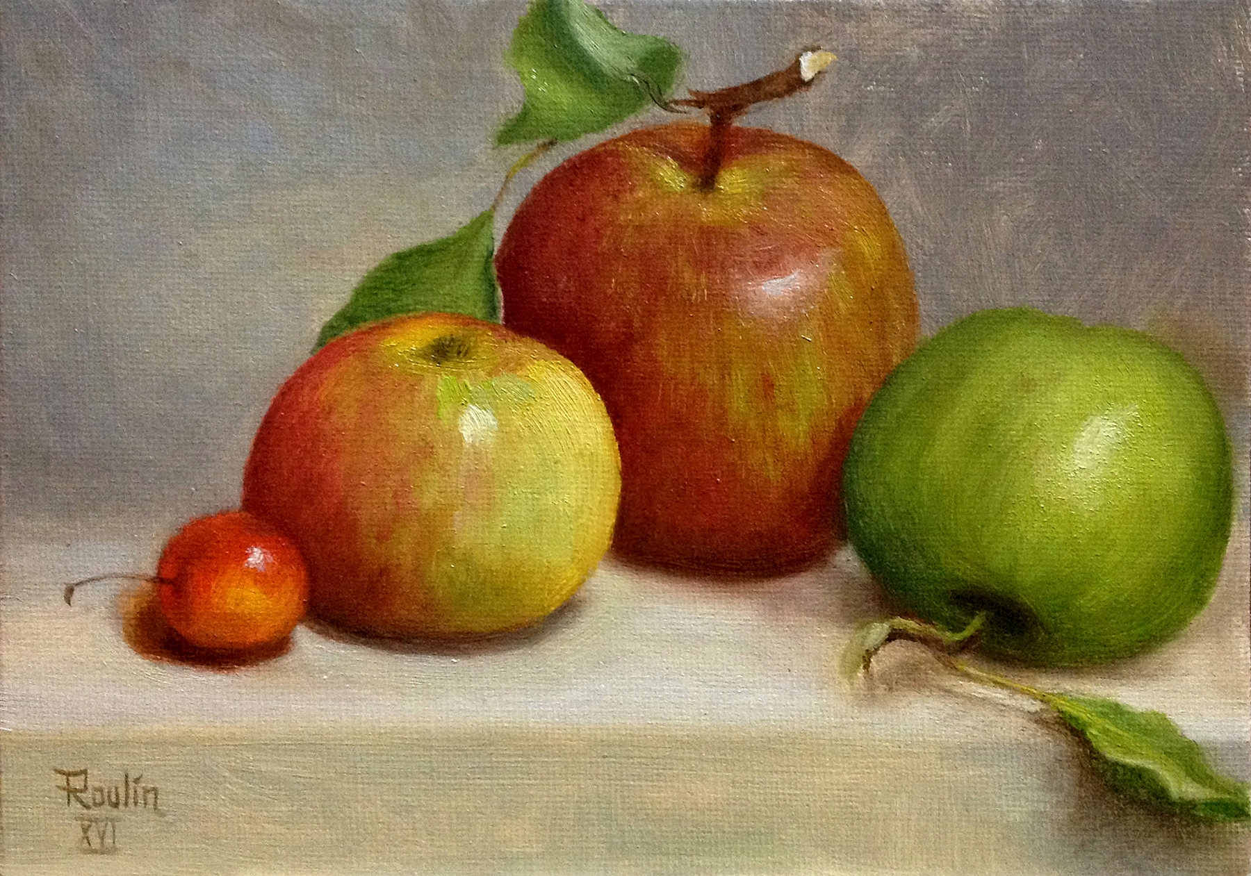 Tatiana Roulin, Apples & Cherry, SOLD