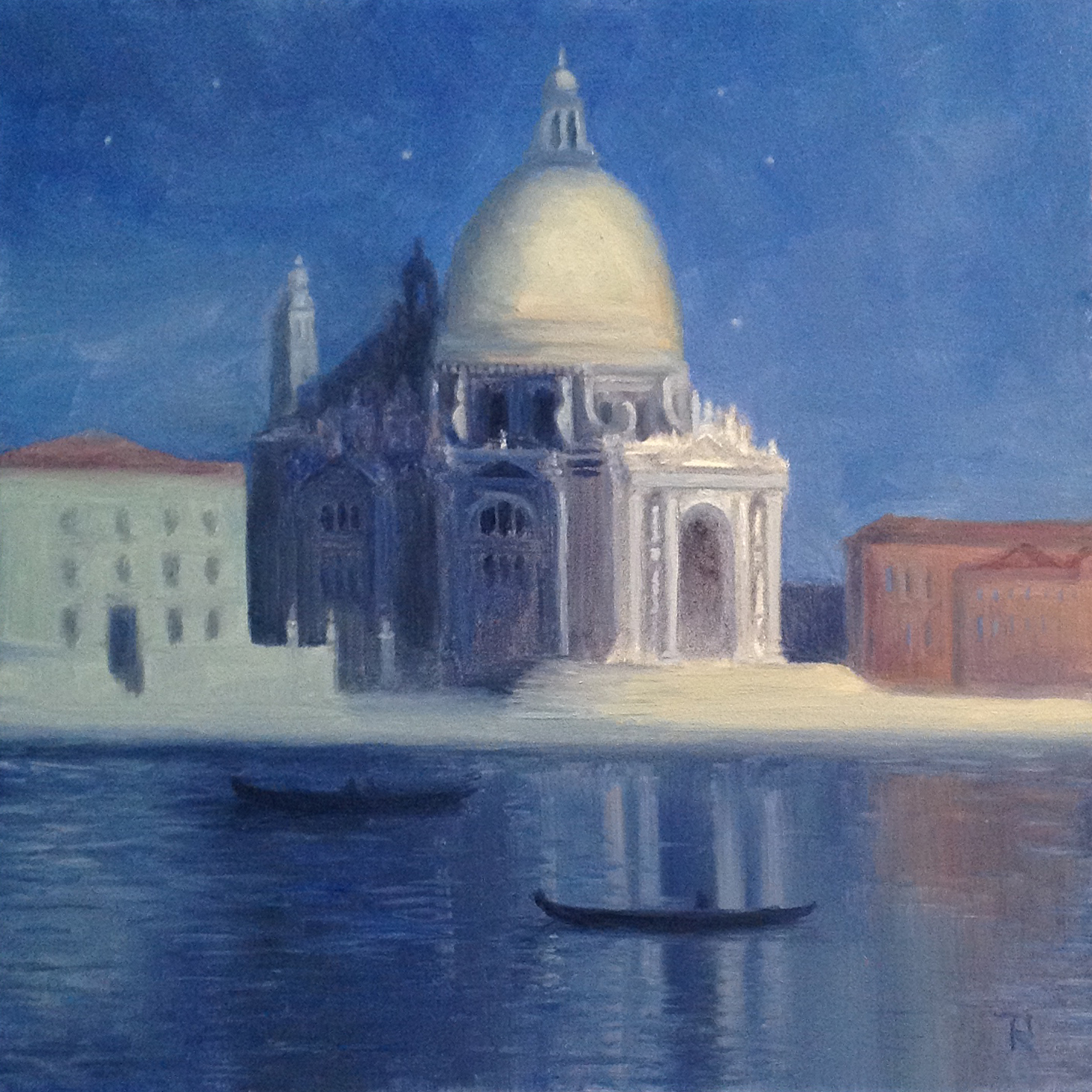 Tatiana Roulin, Moonlit Venice, SOLD