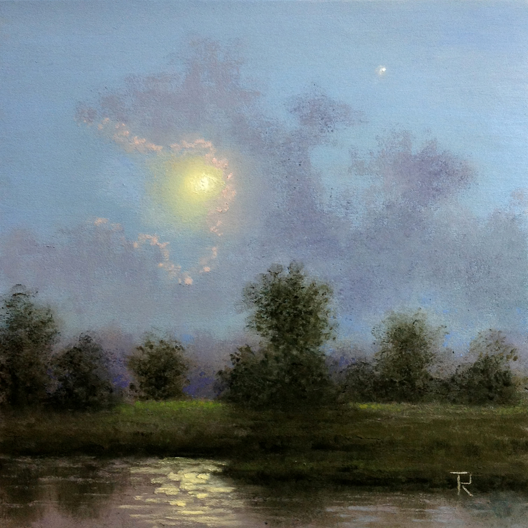 Tatiana Roulin, Hazy Moon, SOLD