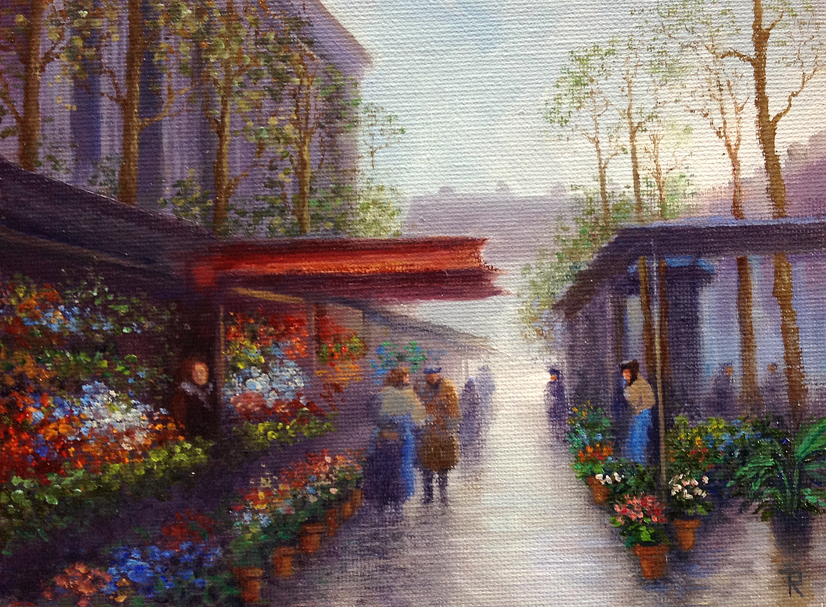 Tatiana Roulin, Parisian Flower Market, SOLD
