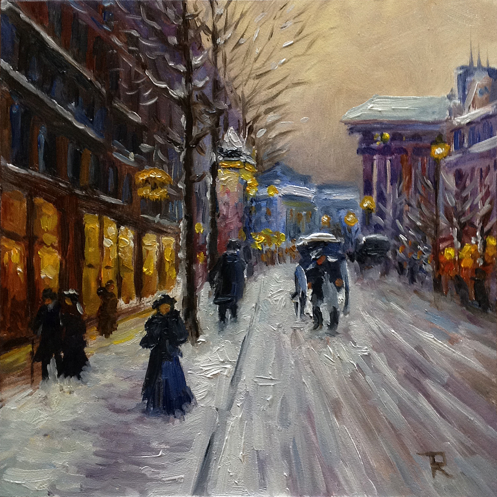 Tatiana Roulin, Winter Paris, SOLD